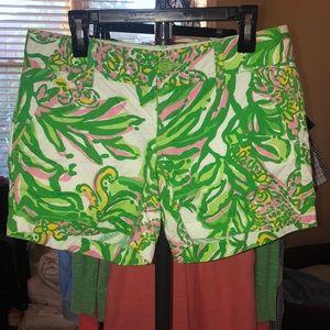 Lilly Pulitzer Seeing Pink Callahan Shorts, sz 00